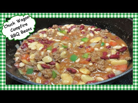 Chuck Wagon Campfire BBQ Beans Recipe ~ How To Make Baked Beefy Beans