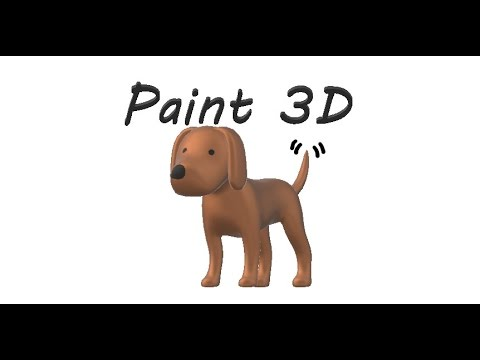 Drawing My Parents & Dog in 3D w/ Paint 3D
