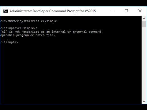 Run C Program in Command Prompt