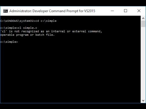 Run C Program in Command Prompt