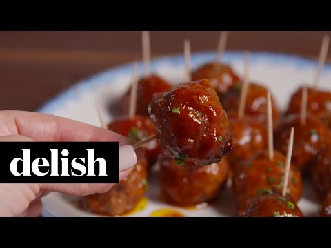 Slow-Cooker Party Meatballs | Delish