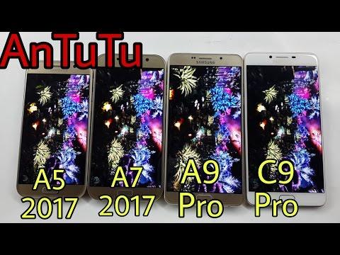 Galaxy C9 Pro Vs A7 2017 Vs A9 Pro Vs A5 2017 AnTuTu Benchmark Test