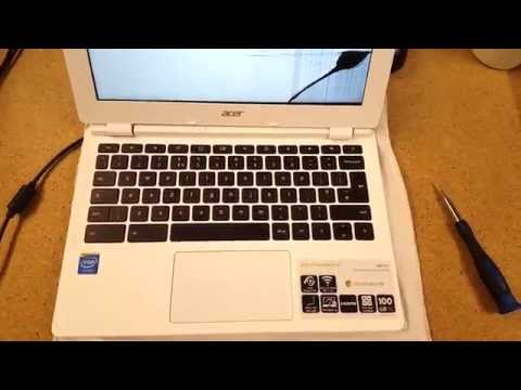 Laptop screen replacement / How to replace laptop screen [Acer CB3-111 Chromebook]