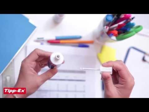 Using correction fluid Tipp-Ex Rapid - 2014 video