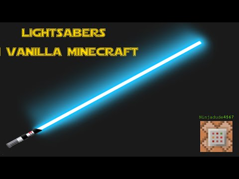 Lightsabers in Vanilla Minecraft