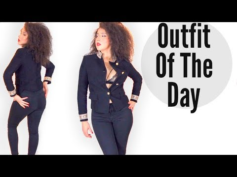 How To Wear All Black   Outfit Of The Day   #outfitoftheday
