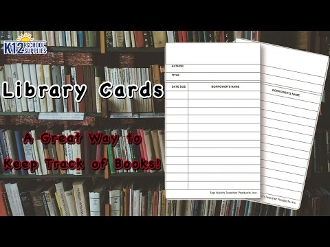 Card Catalog - Library Checkout Cards - Library Catalog System