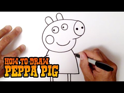 How to Draw Peppa Pig - Step by Step Video Lesson