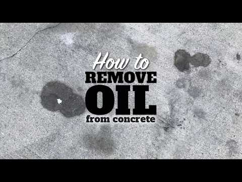 How to Remove Oil on Concrete