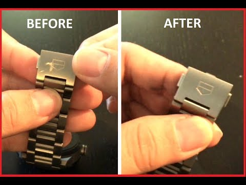How To Remove Scratches From Your Titanium Band Watch - Ft Tah Heuer Connected