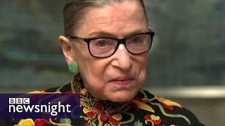 Justice Ruth Bader Ginsburg rare interview: 'It's not the best of times' - BBC Newsnight