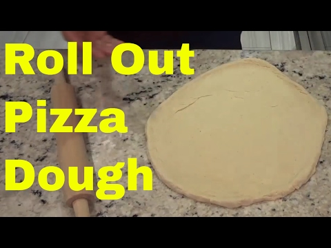 How To Roll Out Pizza Dough For A Thin Crust Pizza-Tutorial