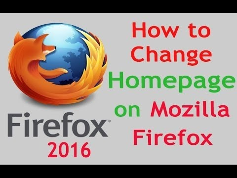 How to Change Home page on Mozilla Firefox Browser setting | bangla firefox setting 2016