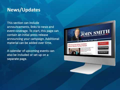 Political Campaign Website Elements by Online Candidate