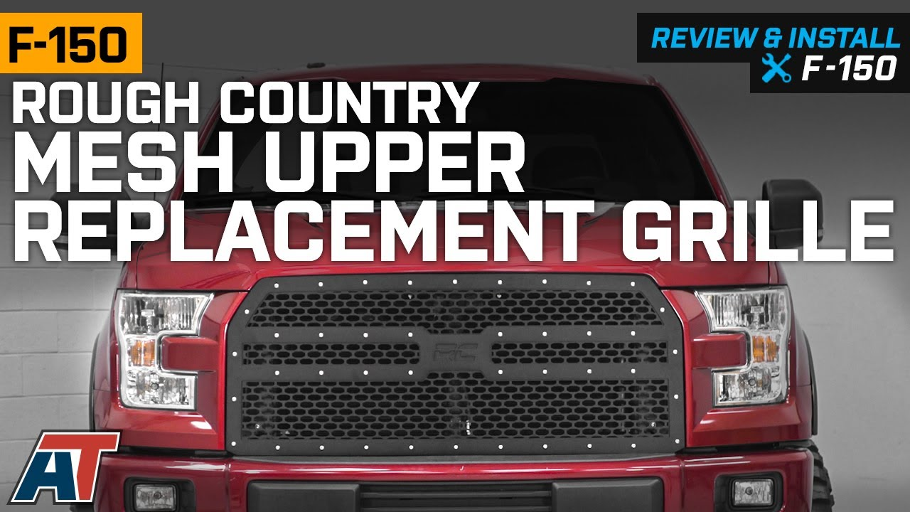 2015-2017 F150 Rough Country Mesh Upper Replacement Grille - Black Review & Install