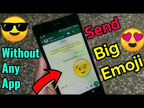 How To Send Big Emoji Without Any App on WhatsApp || Tech4X