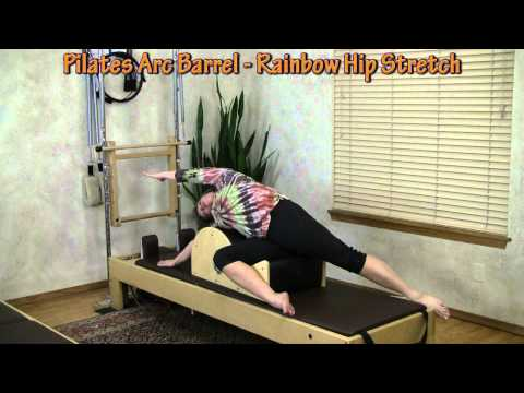 Shoulder Mobility & Hip Stretch with the Pilates Arc Barrel