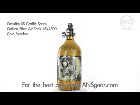 Crossfire SS Graffiti Series Carbon Fiber Tank 45/4500 - Gold Member - Visual 360