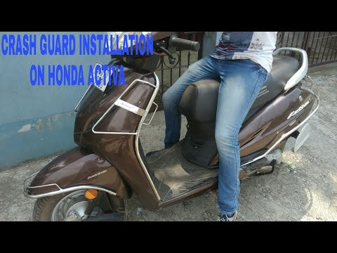 How to install crash guard in Honda Activa