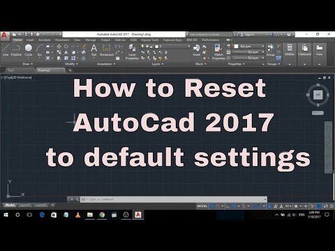 How to reset AutoCAD default Settings By | AutoCAD 2017 Tutorials