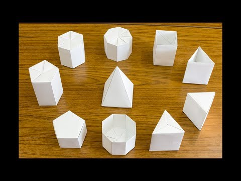 A4用紙で作る正四角柱の折り紙 Origami of square prism made from A4 paper