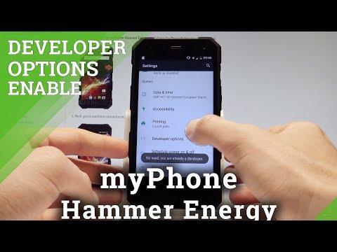 How to Allow Developer Options in myPhone Hammer Energy - USB Debugging |HardReset.Info