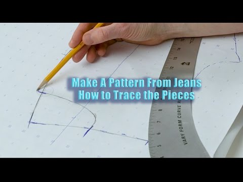Make A Pattern From Jeans Part 2: How to Trace the Pieces