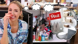 Download I Tried a PINTEREST DOLLAR STORE BATHROOM DECLUTTER    Spring Cleaning! Video