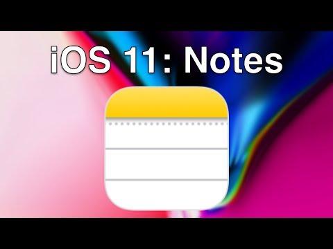iOS 11: Notes