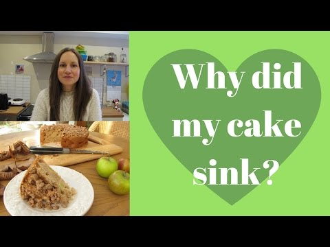 Why did my cake sink?