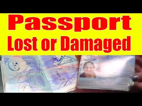 How To Apply A Lost or Damaged Passport And Documents Required