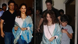 Madhuri Dixit Spotted With Her Husband & Son At PVR Cinemas - JUHU