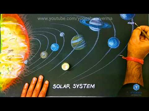 Solar System- drawing of solar system for project work.