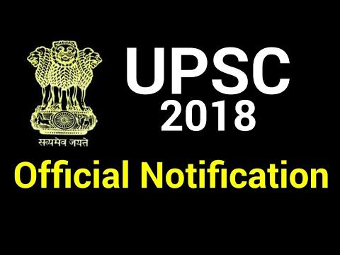 UPSC Official Notification 2018   CIVIL SERVICE EXAMINATION