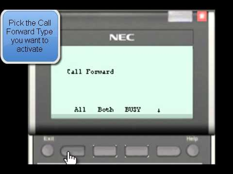 NEC SV8100 : How to activate Call Forwarding