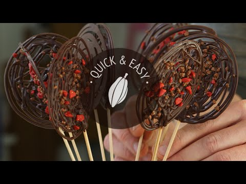 Chocolate lollipops | Quick and easy