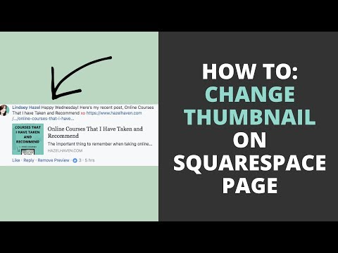 How to Change the Thumbnail on a Squarespace Page