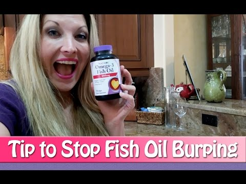 Fish Oil Burping - A Tip to Stop Burping with Fish Oil Supplements