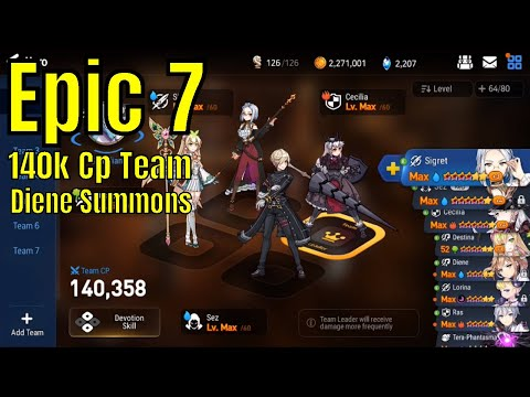 Epic Seven (에픽세븐) 140k CPAccount ProgressSunday