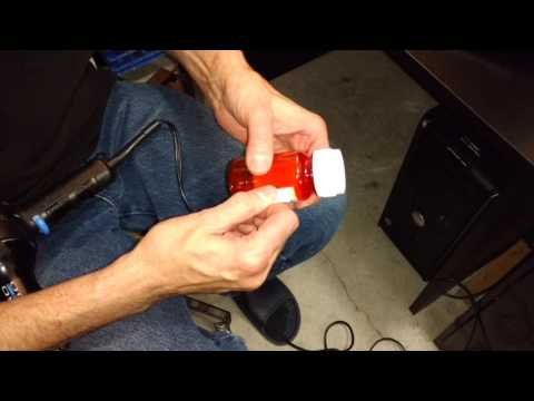 Removing labels from pill bottles made easy