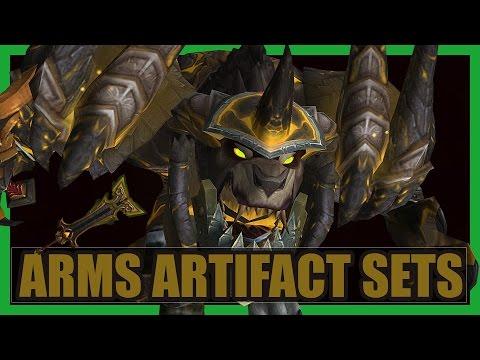 10 Cool Arms Warrior Artifact Sets WoW Legion | Stromkar Weapon Transmog