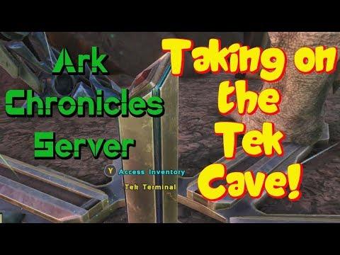 Ark Chronicles Island  Tek Cave Run - Time to Ascend!