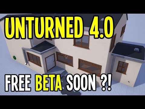 Unturned 4.0 - FREE BETA SOON?! NEW INVENTORY and MOLLE BACKPACKS! EPIC HOME MODELS!