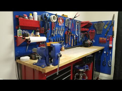 Garage Workbench and Tools Storage - Wall Control Pegboards