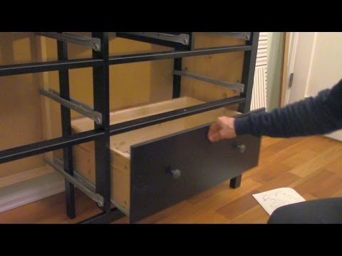 How to assemble an IKEA Dresser (part 3 of 3) - Drawers