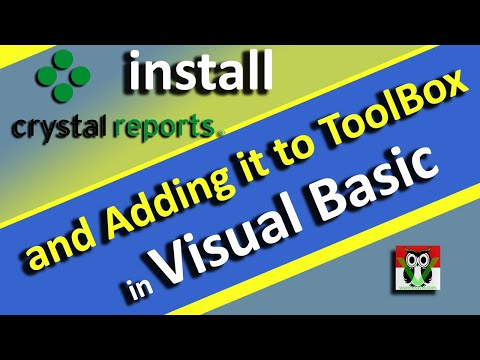Install Crystal Report and Adding in ToolBox Visual Basic