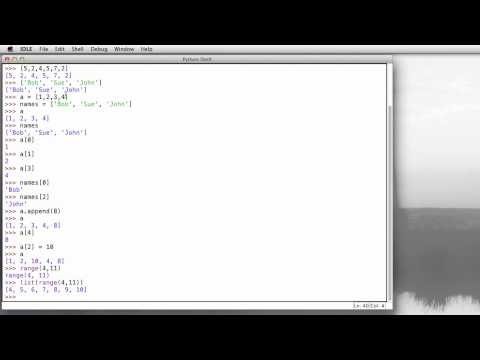 Python: Arrays, Lists, and List Builder