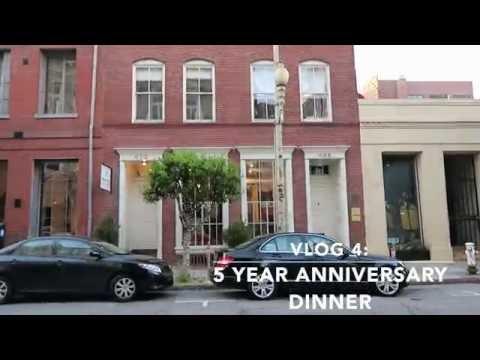 VLOG 3 | Five Year Anniversary Dinner