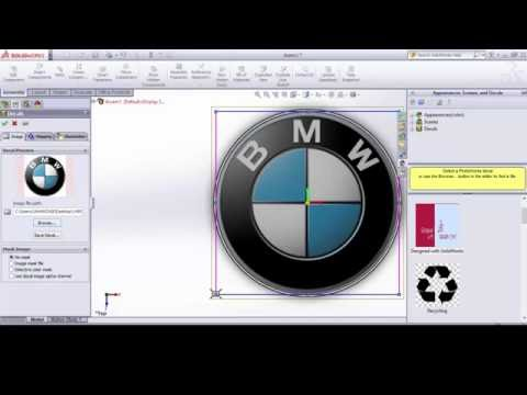 How to insert image or logo in solidworks, Insert decal in solidworks