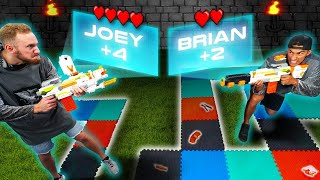NERF Life Size Board Game Challenge!